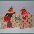Vintage Valentine's Day Card LET'S GET TOGETHER 1930s