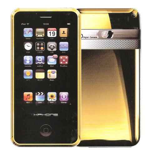 XPHONE GOLD tri band FM MP3/4 dual SIM dual standby hand shake 4GB !