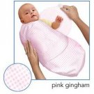 Kiddopotamus SwaddleMe blanket in Pink Gingham fabric - Small