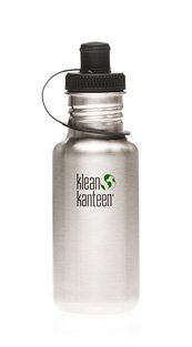 Klean Kanteen 18 oz Original Stainless Steel water bottle with sports cap