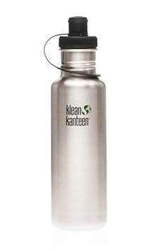 Klean Kanteen 27 oz Original Stainless Steel water bottle with sports cap