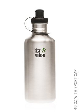Klean Kanteen 40 oz Original Stainless Steel water bottle with sports cap