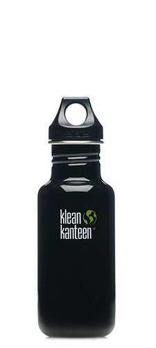 Klean Kanteen 18 oz BLACK ECLIPSE Stainless Steel water bottle with sports cap
