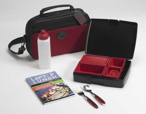 Laptop Lunches Bento Box Lunch System in ZEN RED