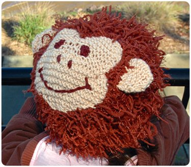 Zooni handmade hat CHUNKEE MONKEY - Medium