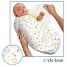 Kiddopotamus SwaddleMe blanket in Circle Bear cotton - Small