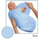 Kiddopotamus SwaddleMe blanket in Blue Microfleece - Small