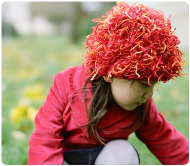 Zooni handmade hat FIRECRACKER Red - XSmall