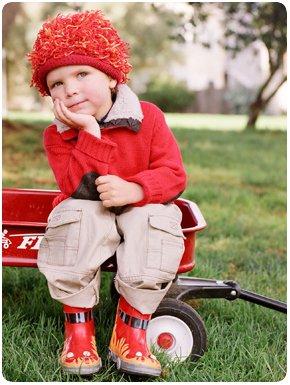 Zooni handmade hat FIRECRACKER Red - Medium