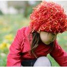 Zooni handmade hat FIRECRACKER Red - Large