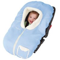 Kiddopotamus Posh Pouch baby carseat cover - BLUE