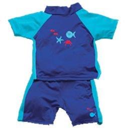 iPlay 2pc Sun Protective Suit w Diaper UPF 50 - 2T - AQUA