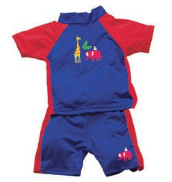 iPlay 2pc Sun Protective Suit w Diaper UPF 50 - 12m - JUNGLE