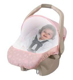 Easy Mesh Sun + Bug Carseat protection - PINK