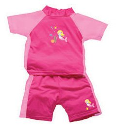 iPlay 2pc Sun Protective Suit w Diaper UPF 50 - 3T - PINK