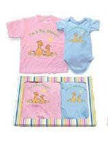 Big Sister Little Brother matching gift Tshirt set - 2T