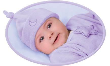 Kiddopotamus Dreamsie in LILAC Velboa - Small