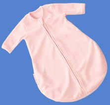 Kiddopotamus longsleeved Dreamsie in PINK Microfleece - Small