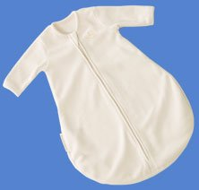 Kiddopotamus longsleeved Dreamsie in IVORY Microfleece - Small