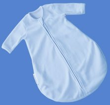 Kiddopotamus longsleeved Dreamsie in BLUE Microfleece - Small