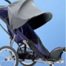 Kiddopotamus stroller Ray Shade - BLACK