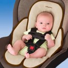 Kiddopotamus Snuzzler carseat head + body support - MOCHA