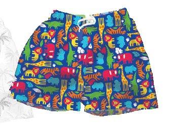 iPlay Swim Trunks with Swim Diaper in Jungle print - 2T