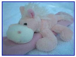 See Me Smile plush seatbelt cover - PINK HORSE