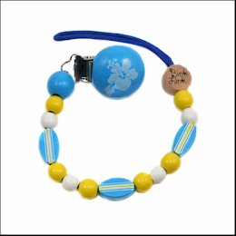 Bink Link Wooden Pacifier Attacher - SURFS UP