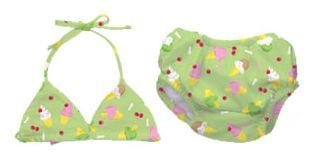 iPlay two-piece Bathing Suit with swim diaper - LIME - 18m