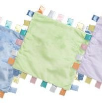 iPlay Velvety ChiChi baby blanket with satin tabs - SAGE