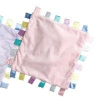 iPlay Velvety ChiChi baby blanket with satin tabs - PINK
