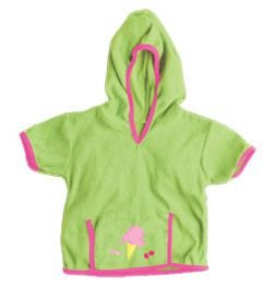 iPlay Swim Sun cover-up Hoodie - LIME - 6-12 m