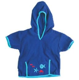 iPlay Swim Sun cover-up Hoodie - AQUA - 6-12 m