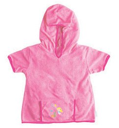 iPlay Swim Sun cover-up Hoodie - PINK - 18m-2T