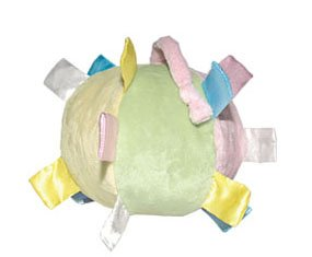 iPlay Velvety ChiChi baby ball with satin tabs - PASTEL