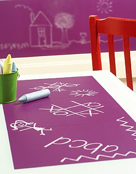 WALLIES Chalkboard sheets 2pk - GRAPE