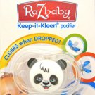 RazBaby Keep it Klean self-closing Pacifier PANDA BEAR
