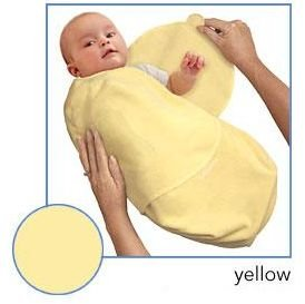 Kiddopotamus SwaddleMe blanket in Yellow Microfleece - Large