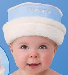 Kiddopotamus Roll Brim Hattie - BLUE - 0-6 m