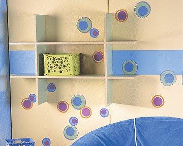 WALLIES prepasted wallpaper cutouts - Small HOT DOTS