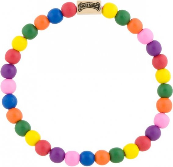 Fruitabees Wooden Bead Necklace - RAINBOW GUMBALL