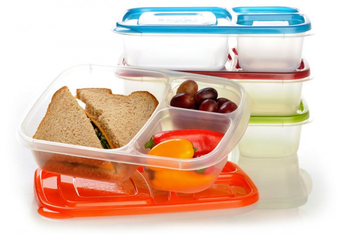 Easy Lunchbox Compartmentalized Food Containers, set of 4
