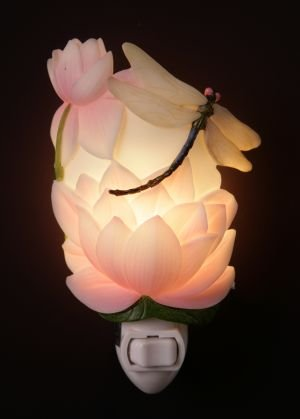Dragonfly & Water Lily Nightlight - Ibis & Orchid Designs