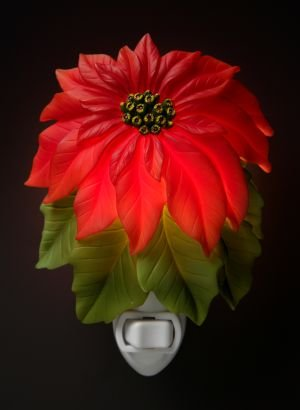 Poinsetta Nightlight - Ibis & Orchid Designs