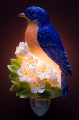 Bluebird on Cherry Nightlight - Ibis & Orchid Designs