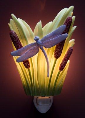 Dragonfly & Cattails Nightlight - Ibis & Orchid Designs