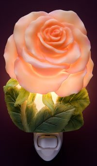 Apricot Rose Nightlight - Ibis & Orchid Designs
