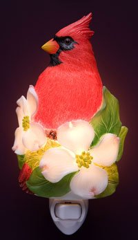 Cardinal on Dogwood Nightlight - Ibis & Orchid Designs