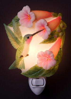 Hummingbird & Trumpet Nightlight - Ibis & Orchid Designs